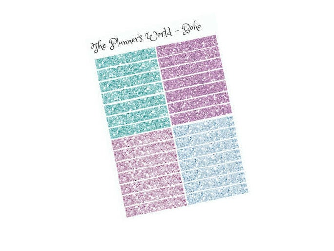 "Glitter header planner stickers ""boho"" - The Planner's World"