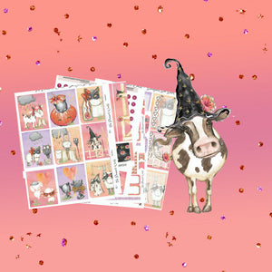 Barnyard Boo Bash Universal Vertical Weekly Sticker  Kit - The Planner's World