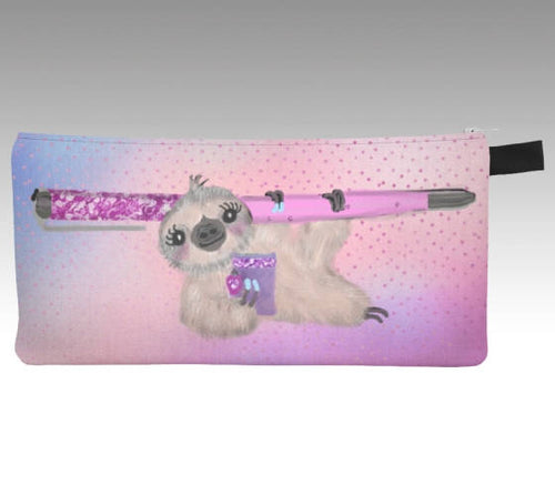 Sloth Pencil Case - sloth - sloth bag - toiletry bag - make up brush holder - cute sloth - makeup brush holder - gift for her - The Planner's World