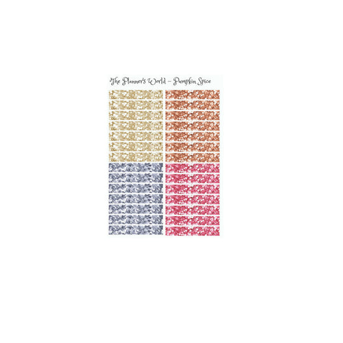 Pumpkin Spice Glitter Header planner stickers - The Planner's World