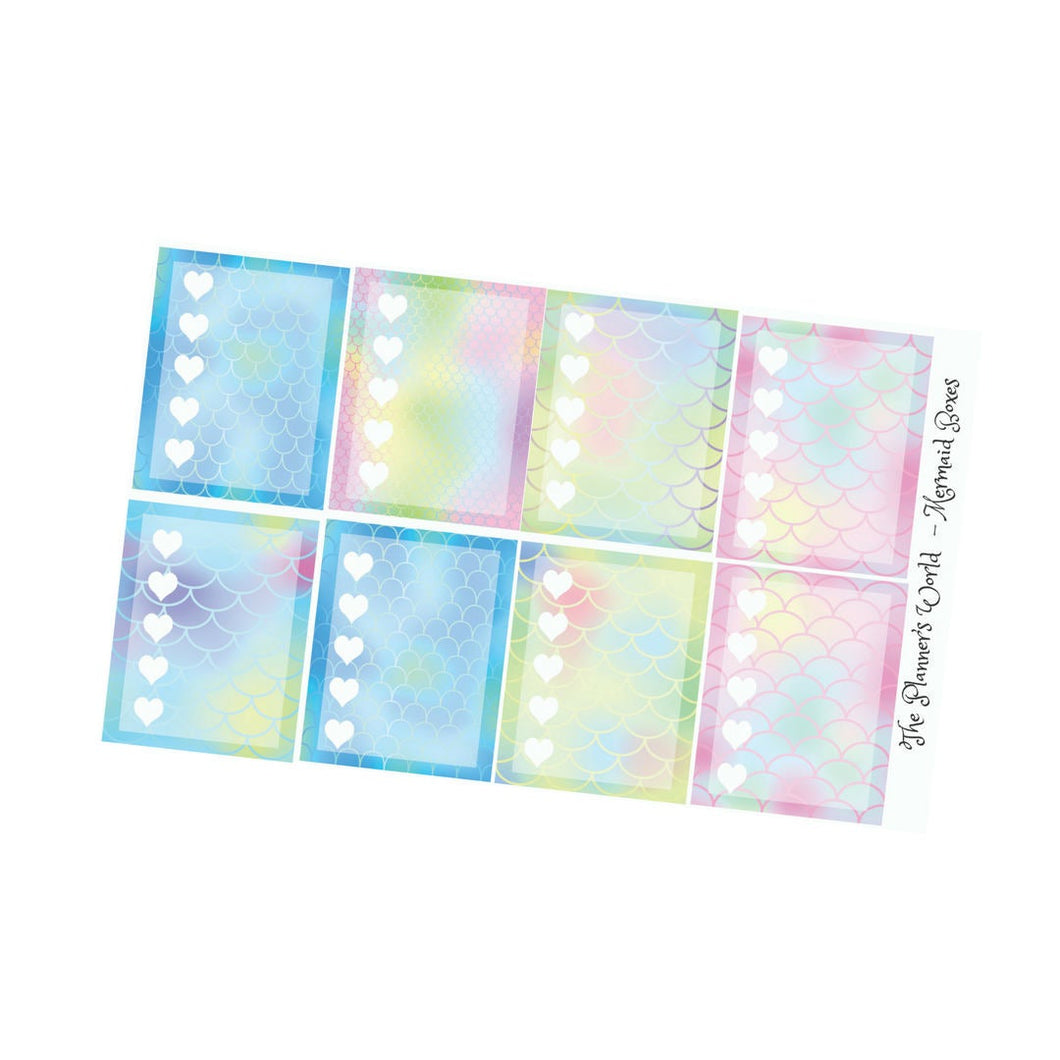 Mermaid Scale checklist stickers - The Planner's World
