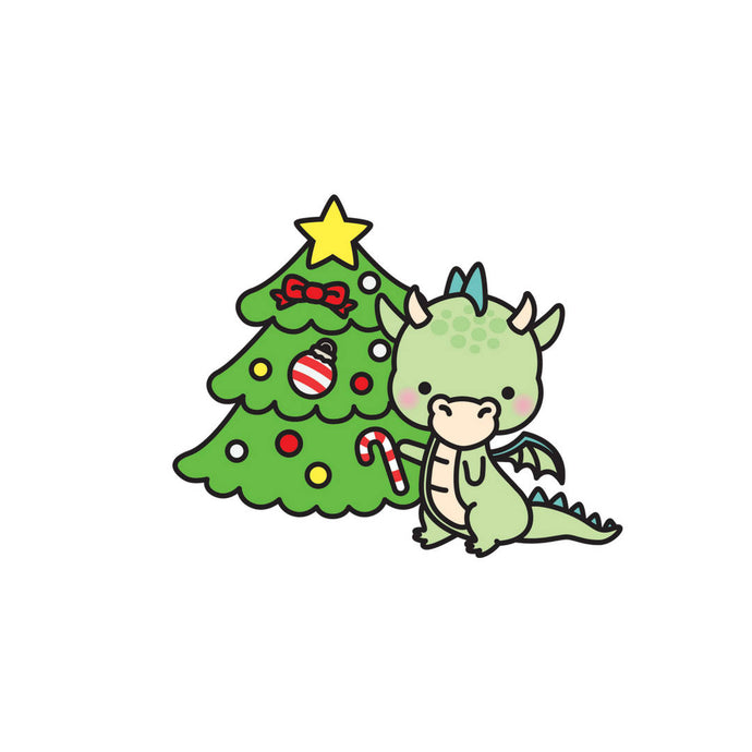 Dragon Christmas tree diecut - The Planner's World