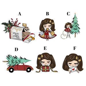Christmas Girls Die Cuts - Christmas - sloth die cut - Happy Mail - Christmas - Travelers notebook - diecuts - Christmas tree - winter - The Planner's World