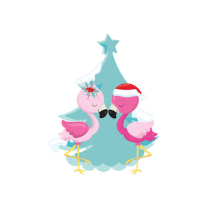 Flamingo Navidad Tropical Christmas die cut - The Planner's World