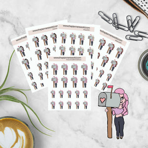 Planner Girl sticker - Happy Mail stickers - Time To Stalk the Mailman - order tracker stickers - planner stickers - bujo stickers - The Planner's World