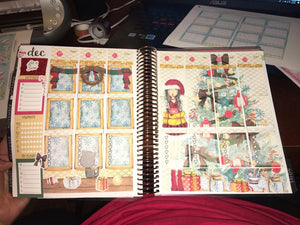 Christmas planner stickers - vertical weekly kit - Let it Snow Christmas Scene Kit - The Planner's World