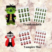 Kawaii sloth Trick or Treater Planner Stickers - The Planner's World
