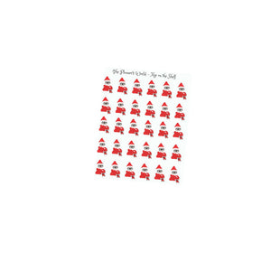 Elf  costume planner stickers - sloth stickers - elf on the shelf - elf  stickers -cute sloth - christmas planner sticker - The Planner's World