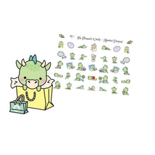 Dragon deco stickers Assorted - The Planner's World