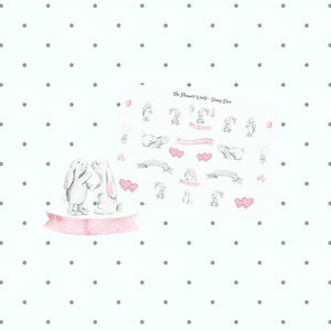 Bunny love stickers - The Planner's World
