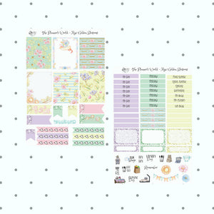 Golden Blossoms Mini Weekly Planner kit - The Planner's World