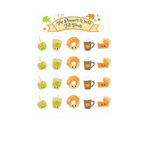 Fall Treats Planner Stickers - The Planner's World