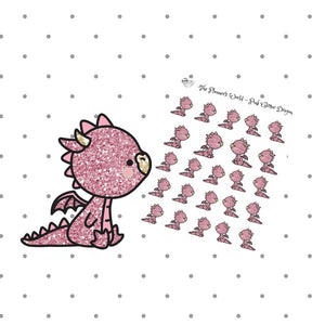 Pink dragon stickers - The Planner's World