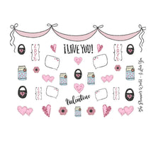 I love you - Valentine planner sticker - heart sticker - hearts - bujo sticker - cute - love sticker - valentine day sticker -script sticker - The Planner's World