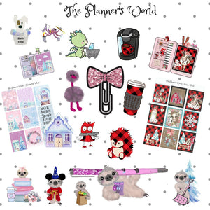 Gray Cat Planner Stickers - The Planner's World