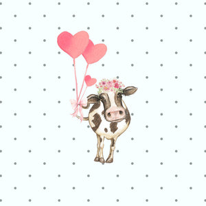 Daisy Moo Cow Die Cut - cute cow planner die cut - cow sticker - diecuts - stickers - die cut travelers notebook - valentine diecuts