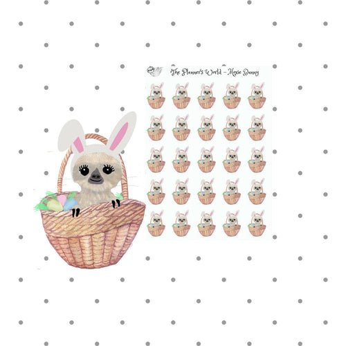 Easter Moxie the Sloth Stickers - The Planner's World