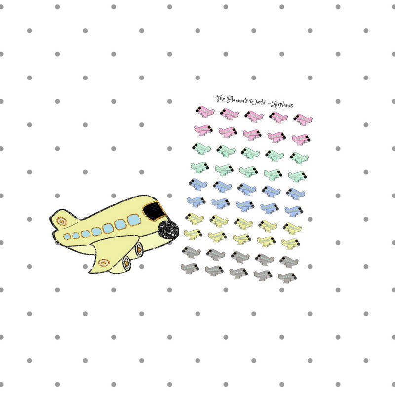 Travel Stickers - trip planner sticker - flight trackers - airplane planner Stickers - vacation sticker - Plane sticker - airplane stickers - The Planner's World