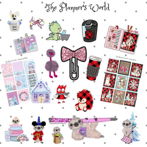 cute dog planner die cut - The Planner's World