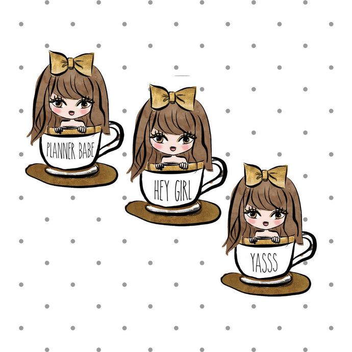 Dunn Mug Coffee Girls Die Cuts - The Planner's World