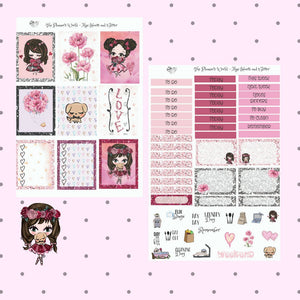 Hearts & Glitter Mini weekly sticker kit - The Planner's World