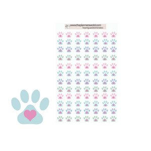 paw print pet planner stickers - The Planner's World