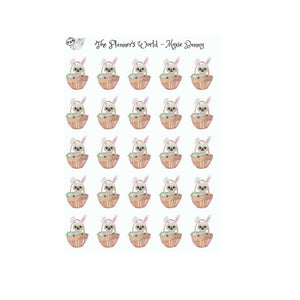 Easter Moxie the Sloth planner Stickers - The Planner's World