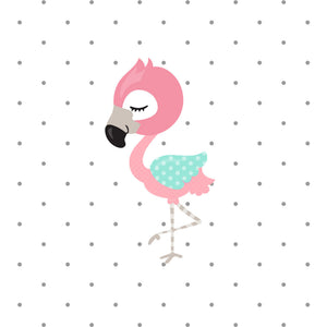 Cute Flamingo Die Cut - flamingo die cut - kawaii flamingo diecut - stickers - die cut travelers notebook - travelers notebook die cuts