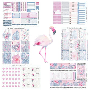 Elegance in Pink Weekly sticker kit - The Planner's World