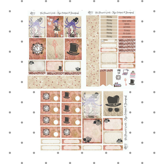 Steampunk Mini Weekly planner kit - The Planner's World