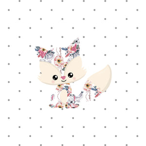 Floral Fox Die Cut Sticker - The Planner's World