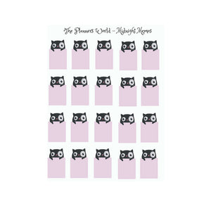 Peekaboo black cat memo stickers - The Planner's World