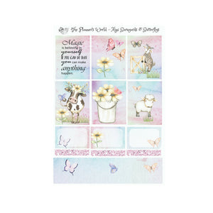 Barnyards and Butterflies Mini Weekly Kit - Daisy Moo Cow - The Planner's World