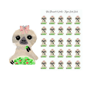 Moxie eats a salad healthy dinner planner stickers - The Planner's World