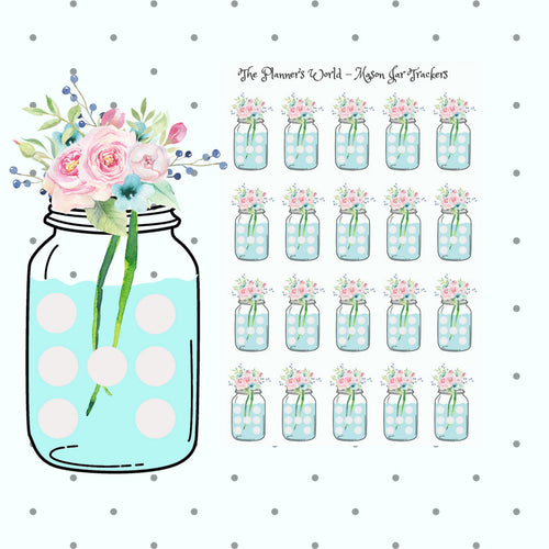 Mason Jar Tracker Stickers - The Planner's World