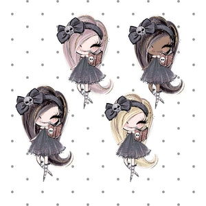 Creepy Cute - Witch Die Cut - Witch Dolly with spell book Die Cut - The Planner's World
