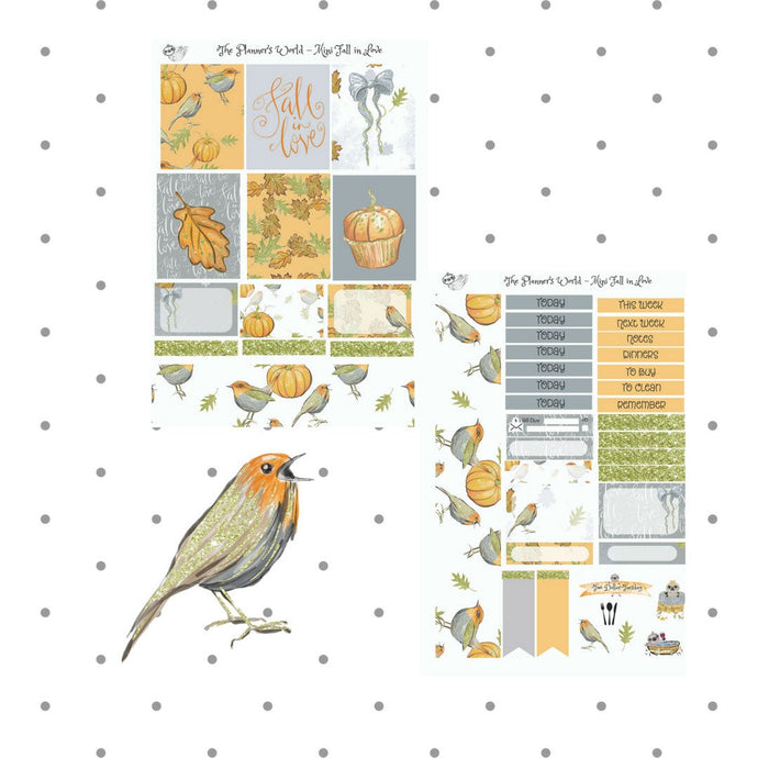 Fall in Love mini Vertical Weekly Kit - The Planner's World