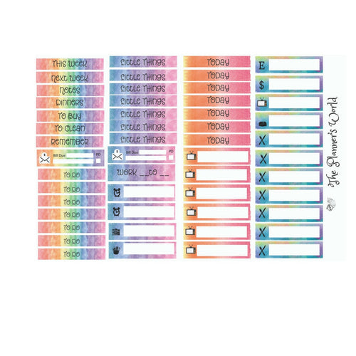 Rainbow  header Planner stickers - The Planner's World