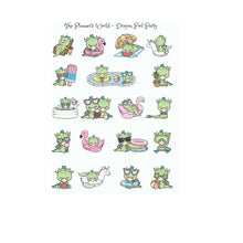 Pool Party Dragon stickers - The Planner's World