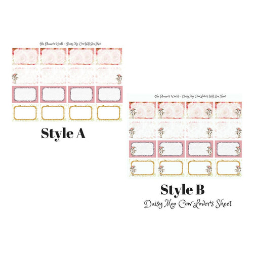 Daisy Moo Cow Add On  Half Box Stickers - The Planner's World