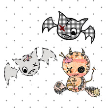 Creepy Cute Dolly and Bat Die Cuts - bat sticker - The Planner's World