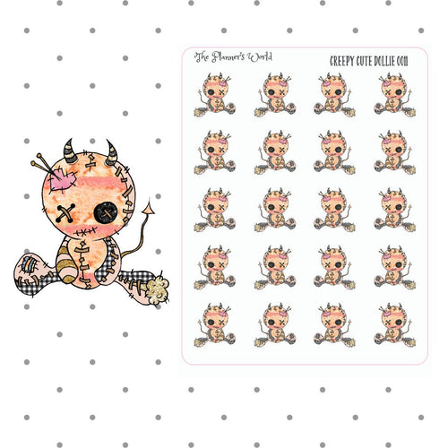 Creepy Cuties Creepy Cute Dolly Stickers - The Planner's World