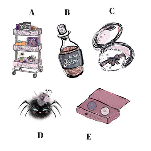Halloween die cuts - rascog cart die cut - spooky stickers - makeup stickers - spider diecut - stickers - planner stickers - spider die cut - The Planner's World