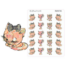 Plaid Kitties Deco - cat stickers - kitty sticker - kitty - planner sticker - cat planner sticker - cute - kitties - The Planner's World