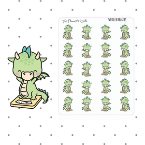 Weigh In Dragon Scale stickers - The Planner's World