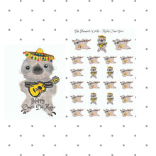 taco stickers - cinco de mayo stickers - Sloth Stickers - planner Stickers - cinco de mayo - cute - stickers - food sticker - handdrawn taco - The Planner's World