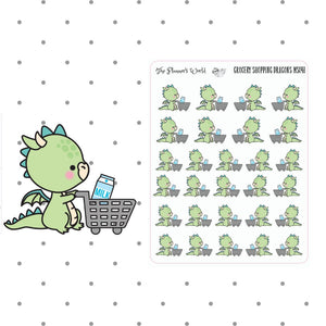 dragon grocery shopping stickers - The Planner's World