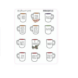 Holiday coffee mugs for the holidays - The Planner's World