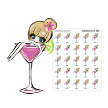 Drink Night Petite Doll Stickers - The Planner's World