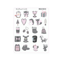 Farmhouse pink ice buffalo plaid stickers - The Planner's World